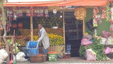 Image: Fruit stand in Ethiopia