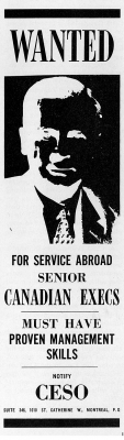 Ad in Industrial Canada Magazine, 1968